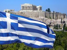 The National Symbols of Greece: Flag, Emblem and Anthem – Greek City Times National Symbols, National Flag, Greek Independence, Marine Flag, King George I, Greece Flag, Ottoman Turks, Greek Beauty, Acropolis
