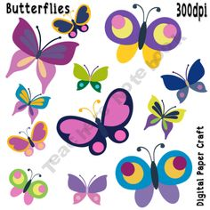 Lexi has pretty butterflies on her wall in her nursery. clb