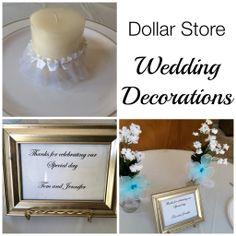 Dollar Store Wedding Decorations - Organized Island
