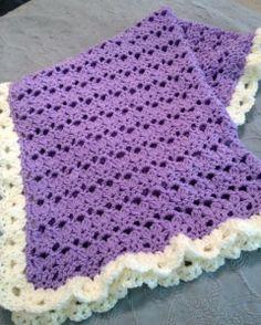 Bebe Blanket - free pattern... pinning for the ruffle border