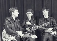 1961 - John Lennon, George Harrison and Paul McCartney.