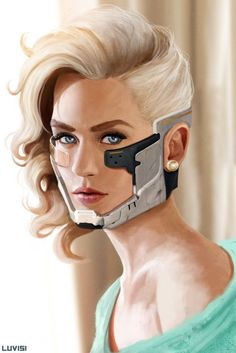 Online digital art gallery of best pictures and photos from portfolios of digital artists. Manually processing and aggregation artworks into the thematic digital art galleries. Cyborg Girl, Metal Gear Rising, Steampunk, Digital Art Gallery, Futuristic Art, Shadowrun, Sci Fi Art, Female Characters, Science Fiction