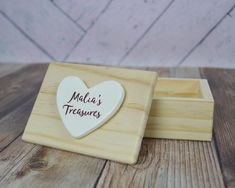 Personalized Treasure Box or Prayer Box - Small Wooden Box with Name - Niece Gift - Nephew Gift - Baptism - Friendship - Gift Box Included #treasurebox #prayerbox #keepsakebox #friendshipgift #niecegift #nephewgift