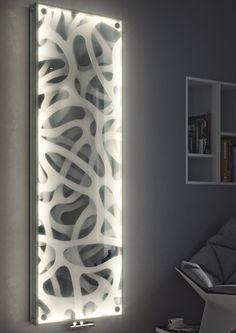 PANIO CRYSTAL LED Heizkörper Modern Radiators, Wooden Partitions, Entrance Decor, Karim Rashid, Wall Lamps, Panel Art, Led, Wood Design, Minimalist Design