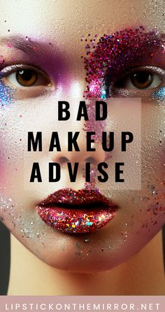 Don't listen to everything that is being shown as good makeup advise.  There are a lot of bad makeup techniques and tips being shown that are far from professional or pretty.  Learn simple makeup techniques that will enhance your face natural beauty. Lipstick on the Mirror #badmakeup  #makeupadvise  #makeup  #uglymakeup  #prettymakeup #makeuptechniques