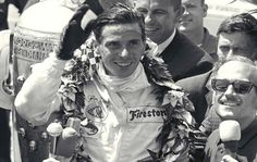 1965 Indianapolis 500 champion, Jimmy Clark. His victory marked the first win for the rear engine machines an Indianapolis. #Indy500