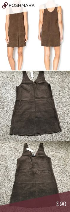 🆕 BB Dakota 100% Leather Katniss Dress Sz L Originally $178, brand new with tags. Made of 100% leather 😱 perfect for festival season! Size Large  Measurements (flat inches) Armpit to armpit 18.5  Chest down 27  Shoulder down 34 BB Dakota Dresses Mini
