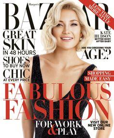 Kate Hudson Graces Harper Bazaar October 2012 Cover Jpg Harpers Bazaar Haircolor Beautiful