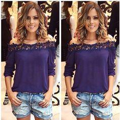 #beautiful deep purple blouse