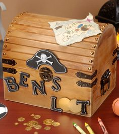 Create a treasure chest for creative play | Find treasure box and other craft projects from Joann.com