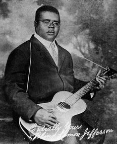 """""""Blind"""" Lemon Jefferson (September 1893 – December was an American blues singer and guitarist from Texas. He was one of the most popular blues singers of the and has been titled """"Father of the Texas Blues"""". Delta Blues, Blues Artists, Music Artists, Instrumental, Rock N Roll, Black Snake Moan, Big Songs, Texas Music, Movie Black"""