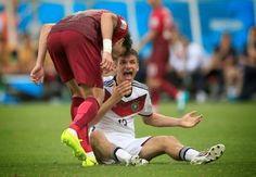 LASGIDI LIFE: Portugal's Pepe Headbutts Germany's Thomas Muller-...