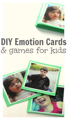 Play With Emotions - make your own photo card games and teach your kids about how to read and talk about emotions.