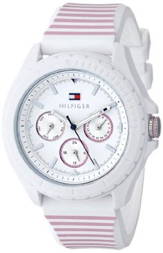 Women's Wrist Watches - Tommy Hilfiger Womens 1781426 AnalogDisplay Watch with Pink Stripes *** See this great product. (This is an Amazon affiliate link)