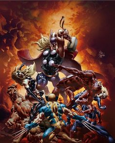 New Avengers by Mike Deodato and Rainier BeredoYou can find Mike deodato and more on our website.New Avengers by Mike Deodato and Rainier Beredo Marvel Girls, Ms Marvel, Captain Marvel, Marvel Comics, Secret Avengers, The Avengers, Mike Deodato, Marvel Comic Universe, Comics Universe