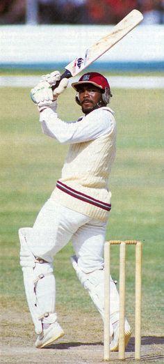 Gordon Greenidge on the attack. Best opening batsmen of all time.,.