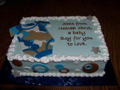 camo baby shower cake | Camo baby