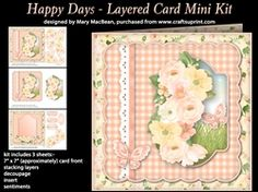 Happy Days   Layered Card Mini Kit on Craftsuprint - View Now!