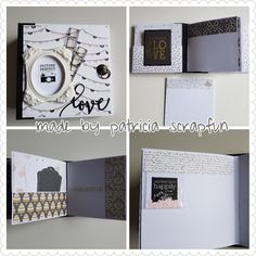 Mini album wedding. Made by patricia