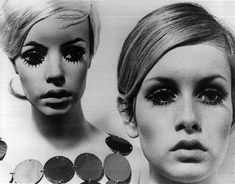Twiggy with her Adele Rootstein mannequin