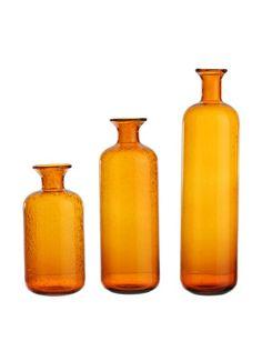 RAZ Set of 3 Amber Bottles at MYHABIT