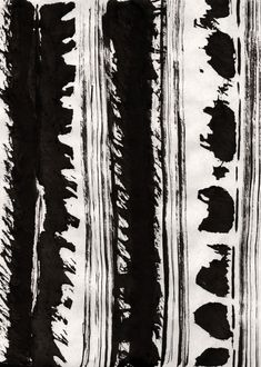 Abstract Stripe Pattern - hand-painted textiles design; mark-making; art print // Liza Quinones