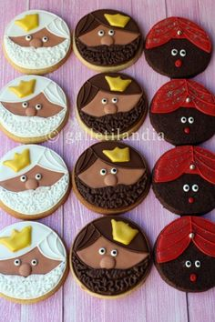 Galletitas de Los Tres Reyes Magos #Navidad-- Three Kings cookies for epiphany. Cute and delicious!