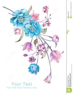 watercolor-illustration-flower-bouquet-simple-background-decoration-as-59336955.jpg (1009×1300)