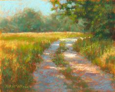 """Ranch Road #21""  (pastel, 8x10 in)  click here to bid: http://www.dailypaintworks.com/buy/auction/588815  I usually try to work in at least one landscape demo in my pastel workshop. Here's the one I did this week.  See progress shots on my blog: https://ritakirkman.blogspot.com/2016/08/ranch-road-21.html"