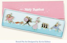 Mary Poppins Boxed Pin Set designed by Kevin Kidney & Jody Daily All Disney Parks, Disney Style, Disney Love, Disney Magic, Disney Pixar, Walt Disney, Disney Pin Trading, Disney Lanyard, Disney Pins Sets