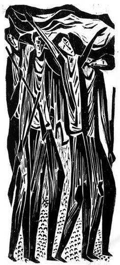 Victor Rebuffo, woodcut