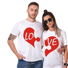 Cute Couple Shirts, T Shirt Painting, Disney World Shirts, Valentine T Shirts, Crazy Outfits, Love T Shirt, Couple Posing, T Shirts For Women, Clothes For Women