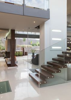House Duk | Transition Spaces | M Square Lifestyle Design #Design #Interior #Timber #Stairs #Contemporary