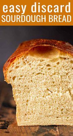 Sourdough Sandwich Bread Recipe, Easy Sourdough Bread Recipe, Sourdough Starter Discard Recipe, Homemade Sandwich Bread, Sandwich Bread Recipes, Yeast Starter, Sourdough Pancakes, Brioche Recipe, Easy Bread
