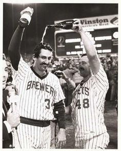 This New Year's Eve, celebrate accordingly… whether you drink the champagne or pour it over someone's head. #TBT #Brewers