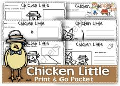 "Chicken Little - Print & Go packet  from Ingles360 on TeachersNotebook.com -  (50 pages)  - The ""Chicken Little"" print and go packet can be used at school or homeschooling.  In this pack you will learn about Chicken Little and other characters through the worksheets included in this 50-page pack."