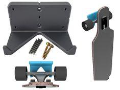 Nikki Mudarris, Hanger Rack, Skate Board, Longboards, Wood Screws, Wall Mount, Ads, Wall Installation, Long Boarding