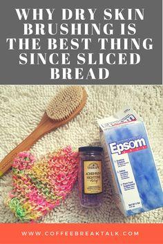 Dry skin brushing, a