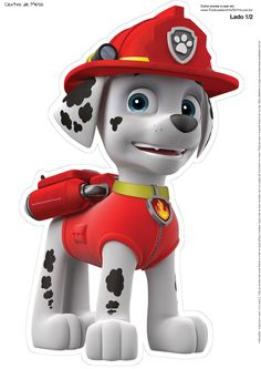 Paw Patrol Free Printable Centerpieces. | Oh My Fiesta! in english