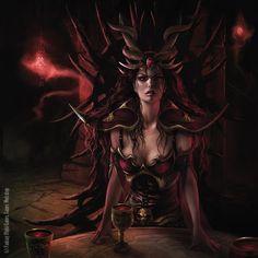 """Magali Villeneuve Portfolio: Warhammer Invasion LCG : """"City of Winter"""" Battle Pack. The Hag Queen."""