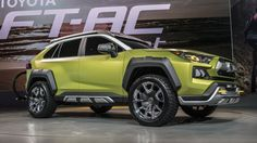 Toyota FT-AC crossover concept debuts at 2017 LA Auto Show Toyota Rav4 2019, 2019 Rav4, Suv 4x4, Us Cars, 4x4 Trucks, Car Shop, Toyota Land Cruiser, Custom Cars, Concept Cars