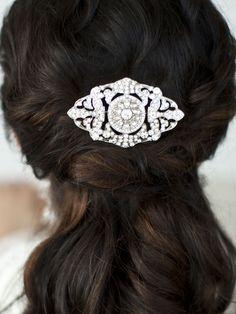 Mariell Magnificent Art Deco Crystal Wedding Hair Comb - Affordable Elegance Bridal -