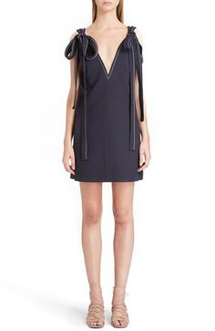 CHLOÉ Shoulder Tie Textured Silk Crêpe Dress. #chloé #cloth #