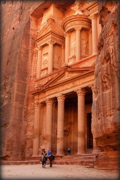 PETRA: The Treasury at 1:50 p.m ...Indiana/Bea Jones was here :) by Bea Kotecka *Come back :) *, via Flickr