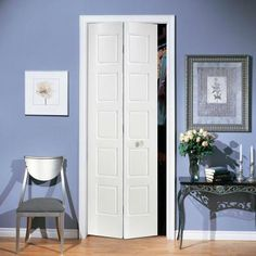 Masonite 36 In X 80 In Riverside 5 Panel Primed White Hollow Core Smooth Composite Bi Fold Interior Door 10706 The Home Depot Prehung Interior Doors Masonite Interior Doors Doors Interior
