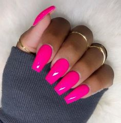 Perfect pinks by nail ideas pink acrylic nails, pink nails Pink Acrylic Nail Designs, Pink Acrylic Nails, Pink Acrylics, Neon Nails, Matte Pink Nails, Acrylic Gel, Bright Pink Nails, Pink Nail Colors, Bright Colors