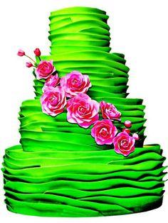 Pastel de boda en verde neón - Mariage - Ces Confections de mariage renversantes prendre le gâteau