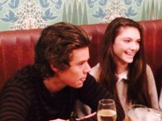 Harry with a fan at her birthday dinner