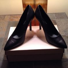 PRICE REDUCTION- BCBG black leather pumps BCBG black leather pumps BCBGeneration Shoes Heels