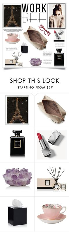 """""""Gift Guide: Work BFF"""" by shormi ❤ liked on Polyvore featuring WALL, Anya Hindmarch, Chanel, Burberry, McCoy Design, Stoneglow, Jonathan Adler, Royal Albert and giftguide"""